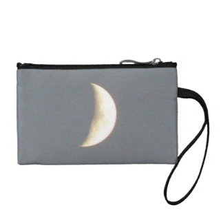 Beautiful Waxing Crescent Moon at Dusk Change Purses