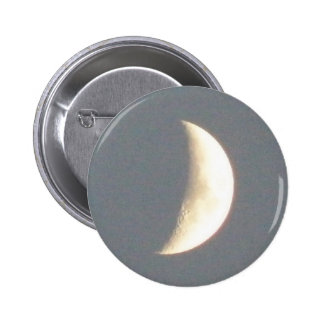 Beautiful Waxing Crescent Moon at Dusk Button
