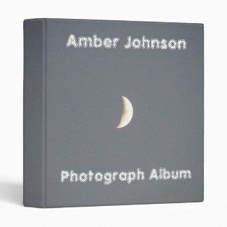 Beautiful Waxing Crescent Moon at Dusk Custom 3 Ring Binder