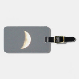 Beautiful Waxing Crescent Moon at Dusk Custom Tag For Luggage
