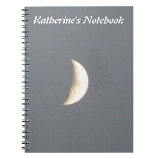 Beautiful Waxing Crescent Moon at Dusk Customizabl Spiral Note Book