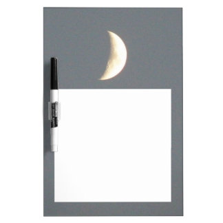 Beautiful Waxing Crescent Moon at Dusk Dry-Erase Boards