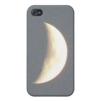 Beautiful Waxing Crescent Moon at Dusk iPhone 4 Cases