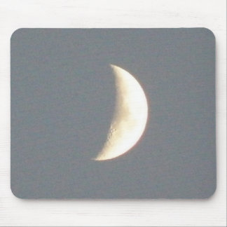 Beautiful Waxing Crescent Moon at Dusk Mousepa Mouse Pad
