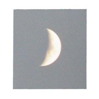 Beautiful Waxing Crescent Moon at Dusk Notepad