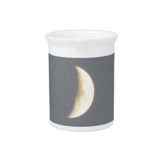 Beautiful Waxing Crescent Moon at Dusk Pitcher