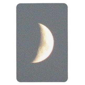 Beautiful Waxing Crescent Moon at Dusk Premium Rectangular Photo Magnet