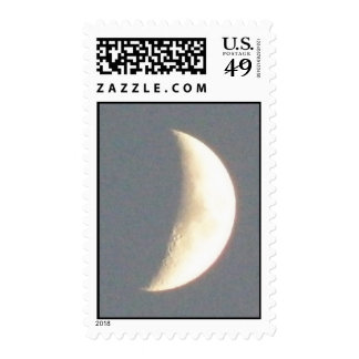 Beautiful Waxing Crescent Moon at Dusk Stamps