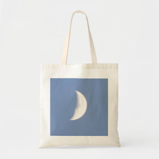 Beautiful Waxing Crescent Moon in Daylight Bag