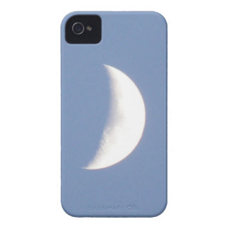 Beautiful Waxing Crescent Moon in Daylight Blackbe iPhone 4 Case