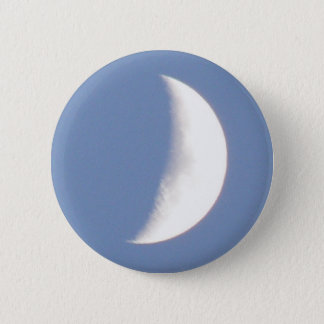 Beautiful Waxing Crescent Moon in Daylight Button