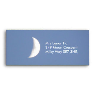 Beautiful Waxing Crescent Moon in Daylight Custom Envelopes