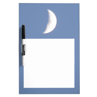 Beautiful Waxing Crescent Moon in Daylight Dry Erase Whiteboard