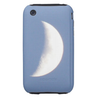 Beautiful Waxing Crescent Moon in Daylight iPhone  Tough iPhone 3 Cover