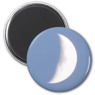 Beautiful Waxing Crescent Moon in Daylight Magnet