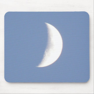 Beautiful Waxing Crescent Moon in Daylight Mousepa Mouse Pad