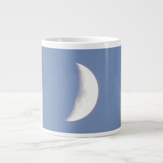 Beautiful Waxing Crescent Moon in Daylight Mug