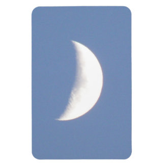 Beautiful Waxing Crescent Moon in Daylight Premium Magnet