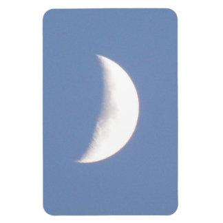 Beautiful Waxing Crescent Moon in Daylight Premium Rectangular Photo Magnet