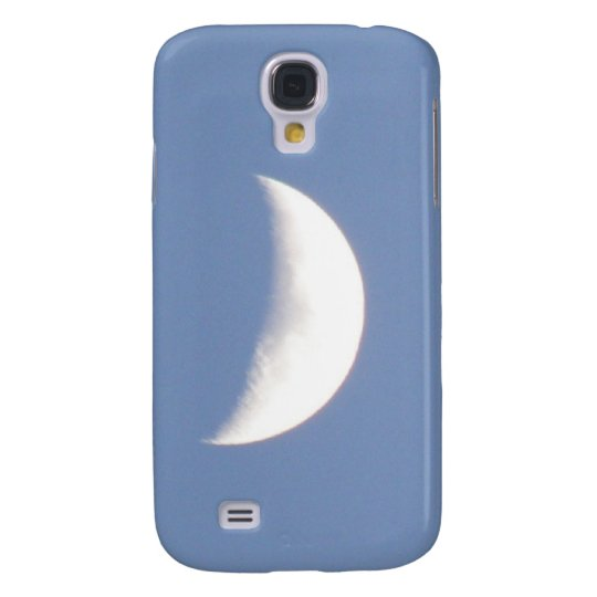 Beautiful Waxing Crescent Moon in Daylight Samsung Galaxy S4 Cover