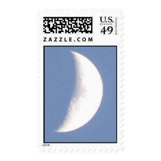 Beautiful Waxing Crescent Moon in Daylight Stamps