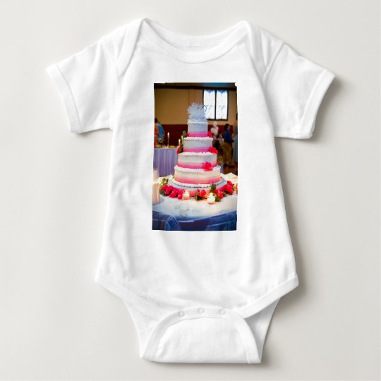 Beautiful Wedding Cake Baby Bodysuit
