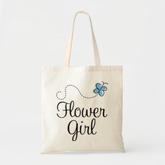 Beautiful Wedding Day Flower Girl Blue Tote Bag