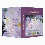 Beautiful Wedding Guest Book! Pastel Flowers Binders