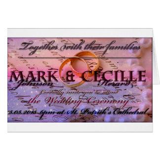Beautiful Wedding Invitation Greeting Card