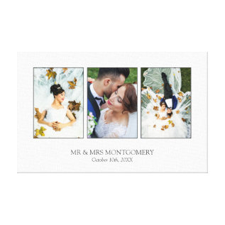 Beautiful Wedding Photo Collage Canvas Print at Zazzle