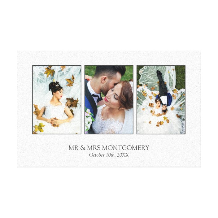 Beautiful Wedding Photo Collage Canvas Print Zazzle Com