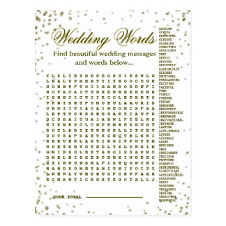 Beautiful Wedding Words Game Postcard