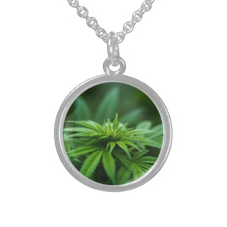 Beautiful Weed Silver Plated Necklace
