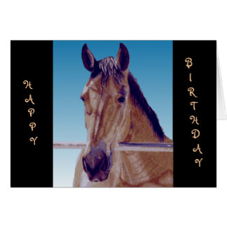 Beautiful Western Horse Greeting Card