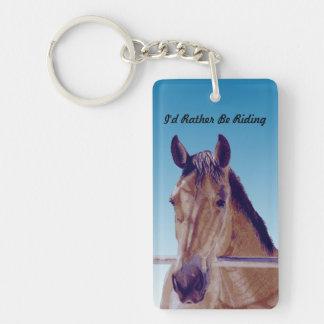 Beautiful Western Horse Single-Sided Rectangular Acrylic Keychain