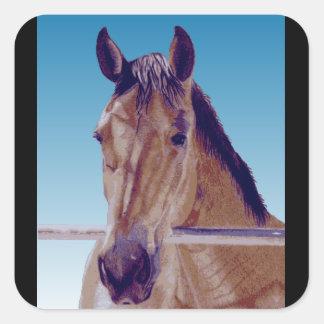 Beautiful Western Horse Square Sticker