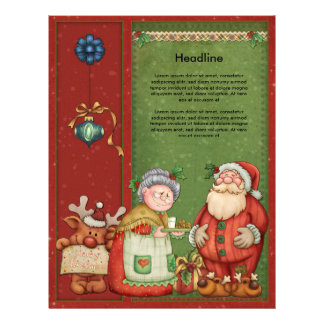 Beautiful, whimsical Christmas design Letterhead