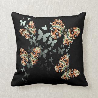 Beautiful Whimsical Oriental Butterflies Throw Pillow