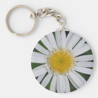 Beautiful White and Yellow Flower Design Keychain