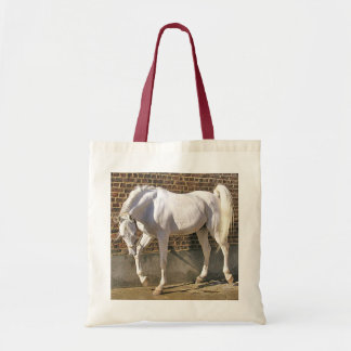 Beautiful White Arabian Horse Tote Bag