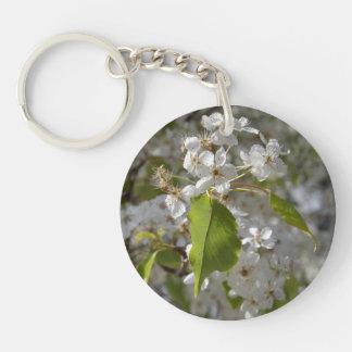 Beautiful White Arizona Wild Flower keychain