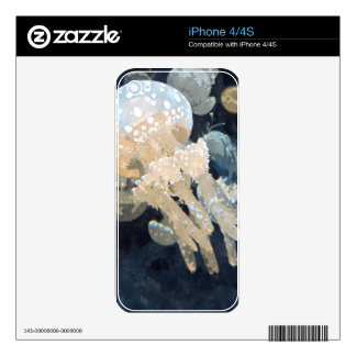 Beautiful White Blubber Jellyfish Skins For iPhone 4S