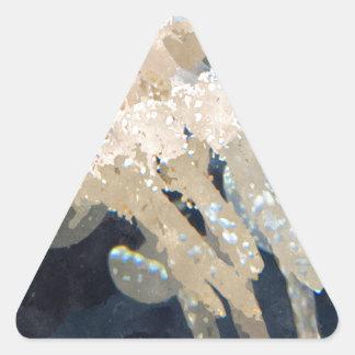 Beautiful White Blubber Jellyfish Triangle Sticker