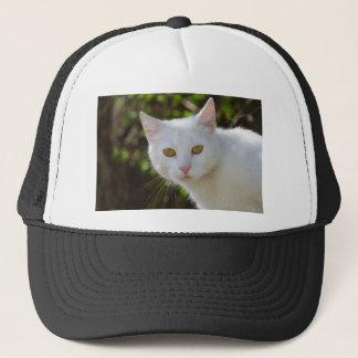Beautiful White Cat Trucker Hat