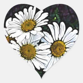 Beautiful white daily design heart sticker