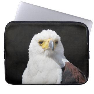 Beautiful white eagle portrait computer sleeve