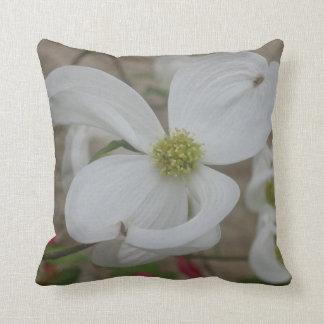 Beautiful White flower Throw Pillow