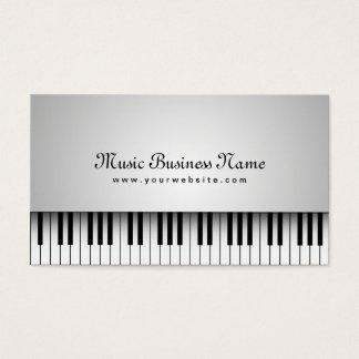 Beautiful White Grand Piano Music Business Card