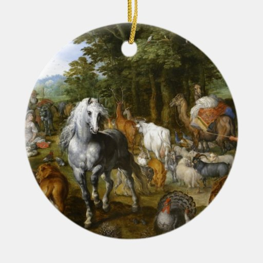Beautiful White Horse Ceramic Ornament