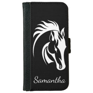 Beautiful White Horse Design iPhone Wallet